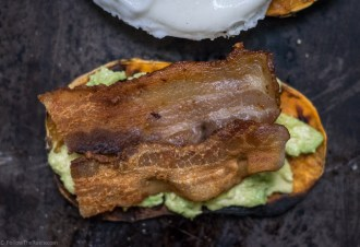 Paleo Avocado Toast with Bacon