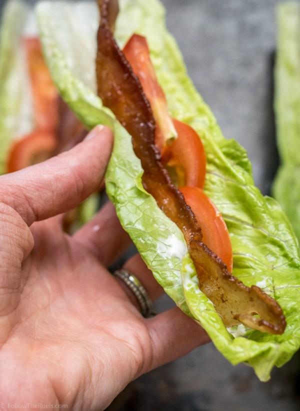 Paleo BLT Lettuce Wraps