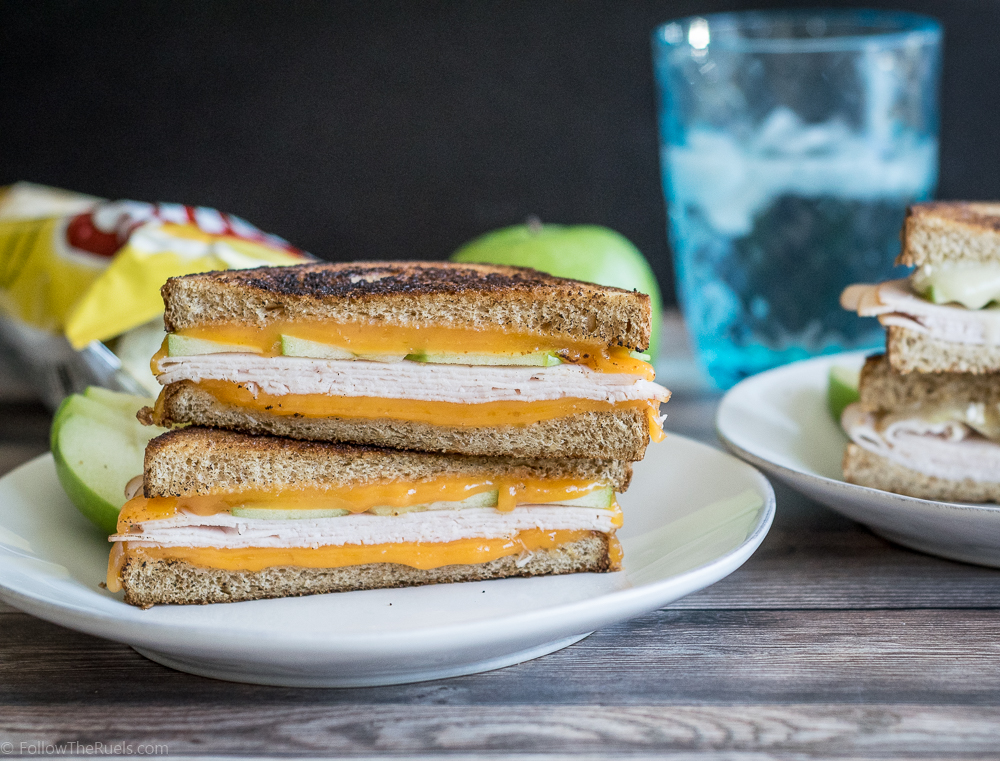 Turkey and Apple Grilled Cheese