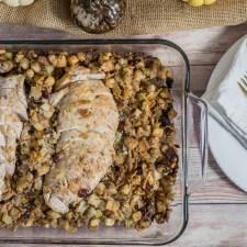 Cornbread Stuffing and Turkey Bake