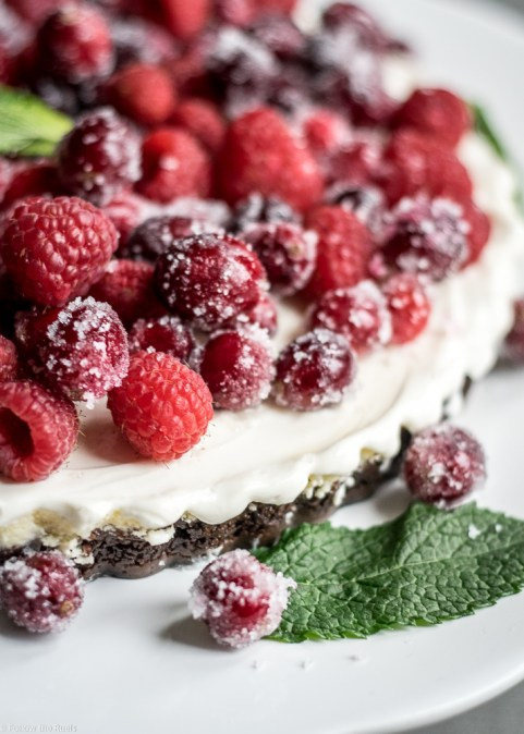 Winter Berry Cheesecake Tart