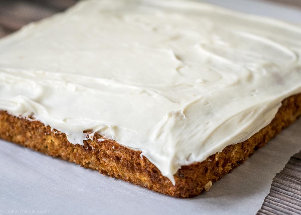 Two Layer Sheet Cake Carrot Cake