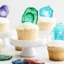 Candy Agate Cupcake Toppers