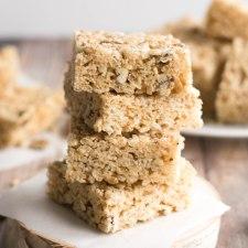 Maple Pecan Rice Krispie Treats