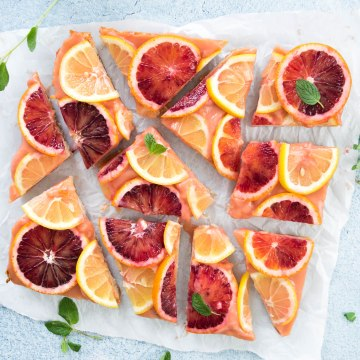 Blood Orange Lemon Bars