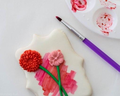Fondant Flower Stem Cookies-6