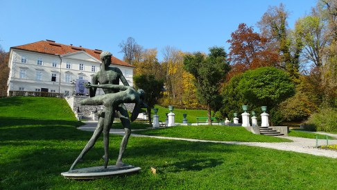 Beautiful sculpture in Tivoli Park, Ljubljana