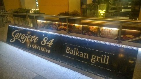 Sarajevo '84 Balkan grill from the outside