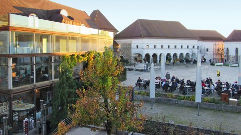 The yard of Ljubljana's castle