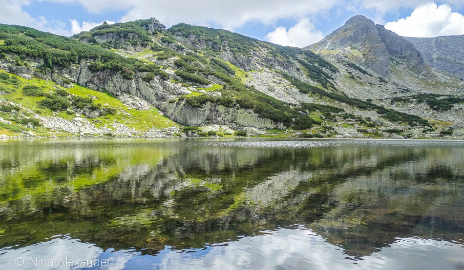 Reflection, At The 7 Rila Lakes In Bulgaria