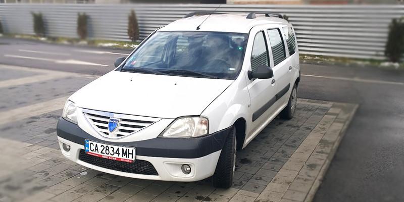 Dacia Logan, front, rent a car Bulgaria