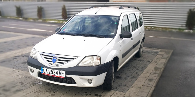Dacia Logan, front, rent a car Bulgaria