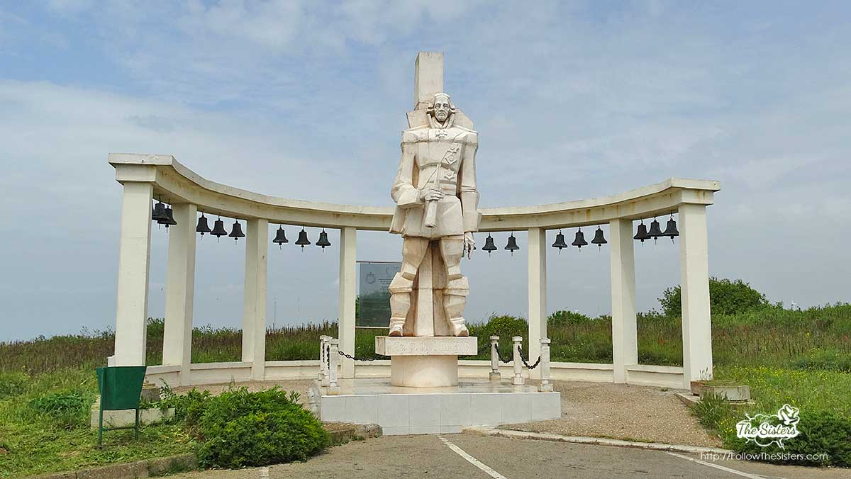 A monument of Gen. Ushakov at Cape Kaliakra
