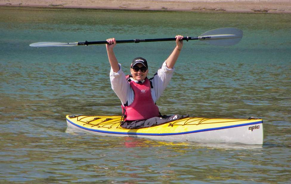 Happy to have mastered kayaking