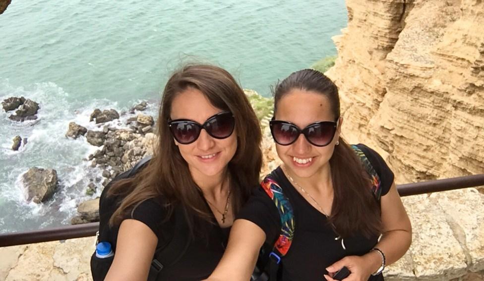 Nina and Ellie at Cape Kaliakra