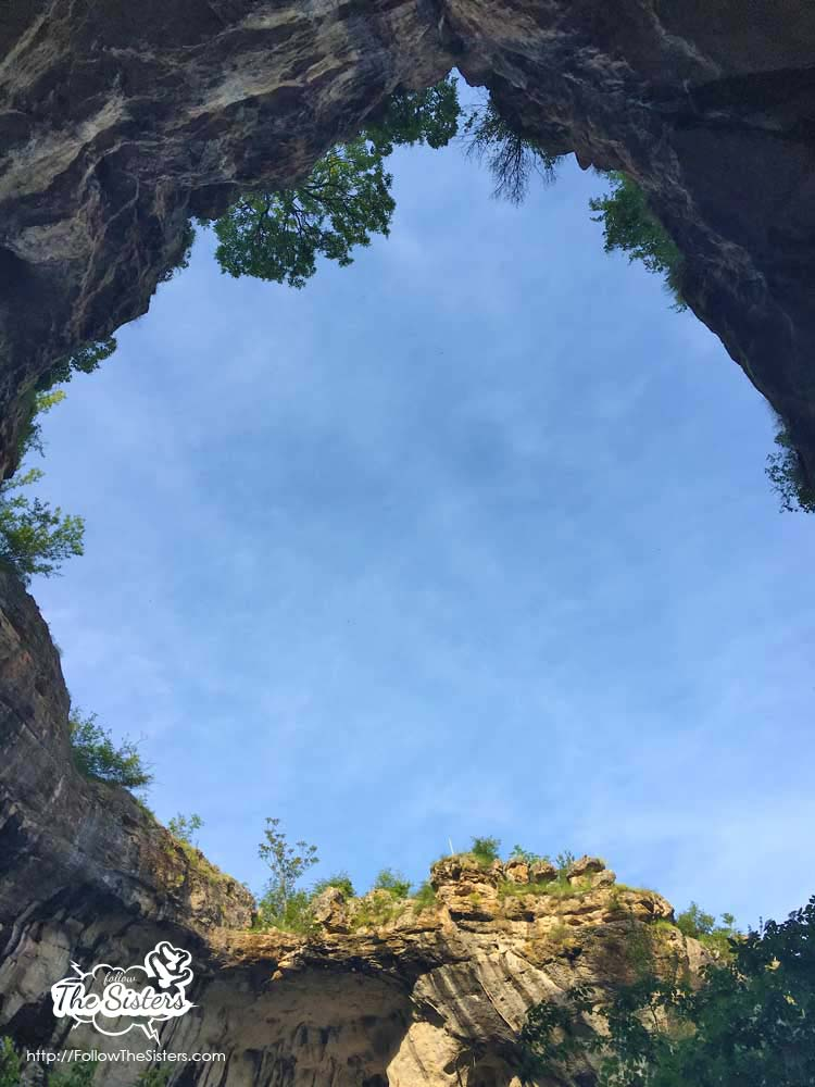 Prohodna cave - large entrance, looking up