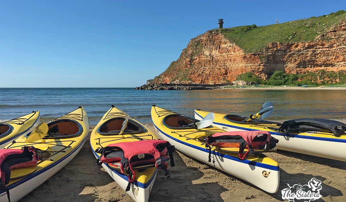 Sea Kayaking At The Black Sea In Bulgaria