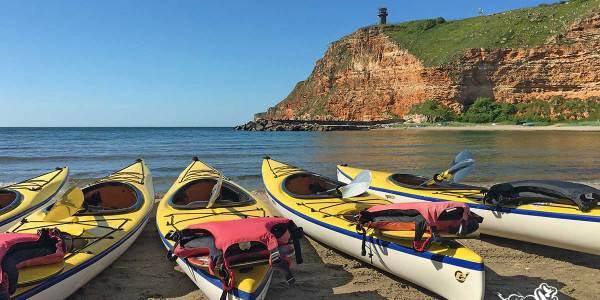 Sea Kayaking At The Black Sea In Bulgaria