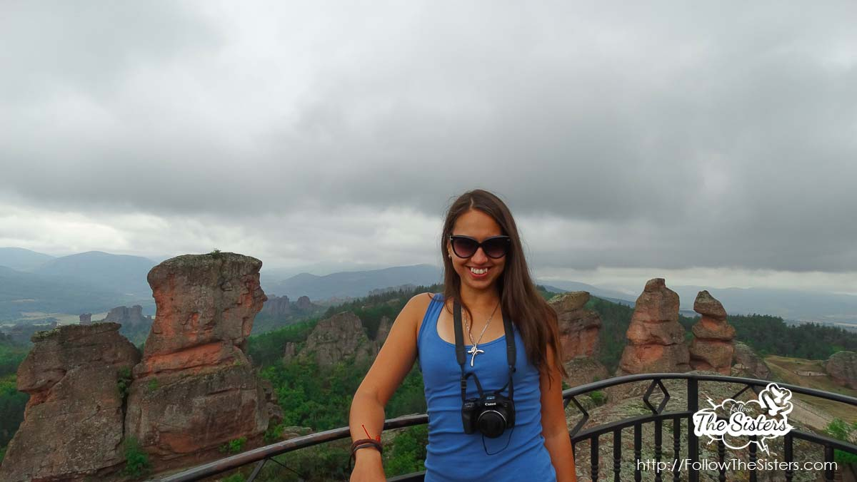 Ellie posing in Belogradchik
