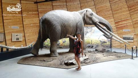 Ellie next to the mammoth in Dorkovo