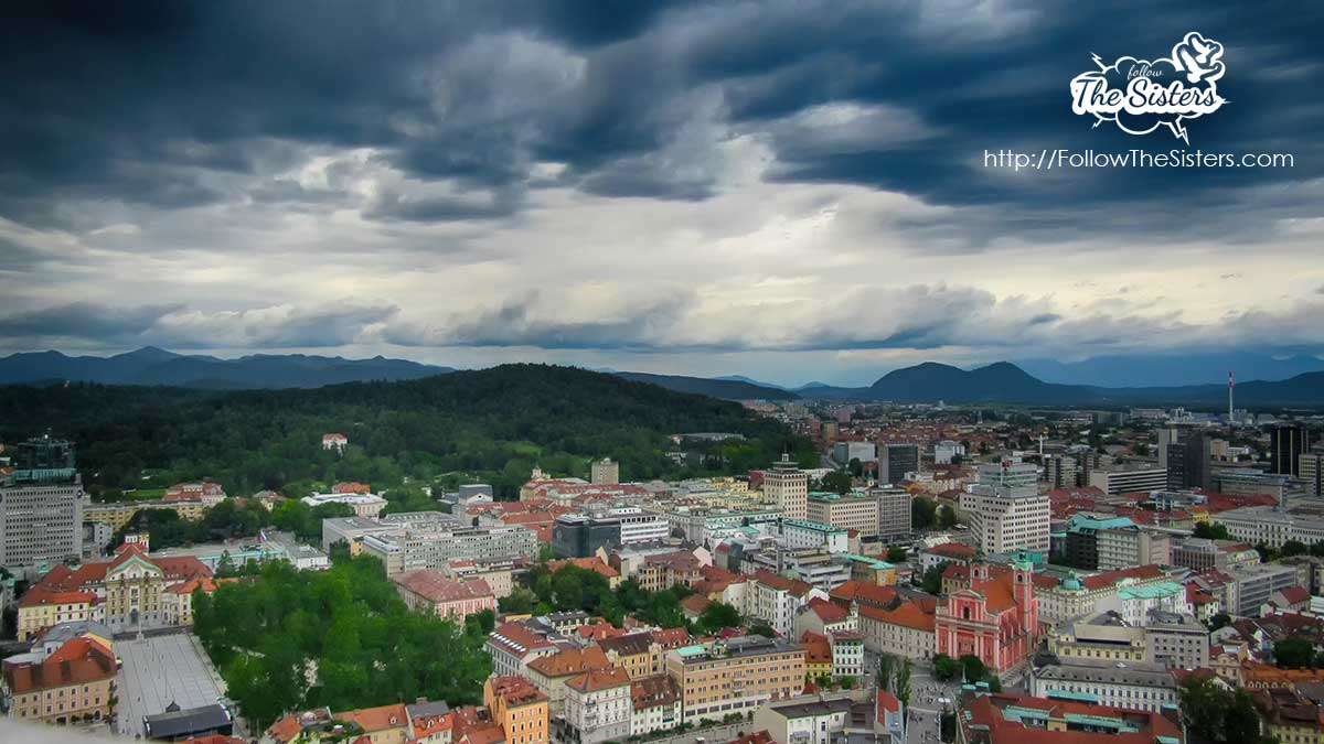 The view from the tower of Ljubljanski grad (Ljubljana's Castle)