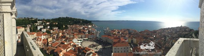 Panorama from Piran's Bell Tower