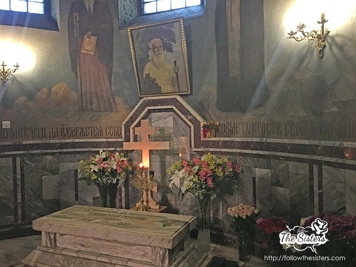 The grave of bishop Searaphim in the Russian church