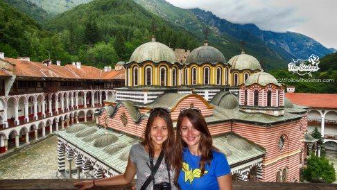 The sisters at Rila Monastery