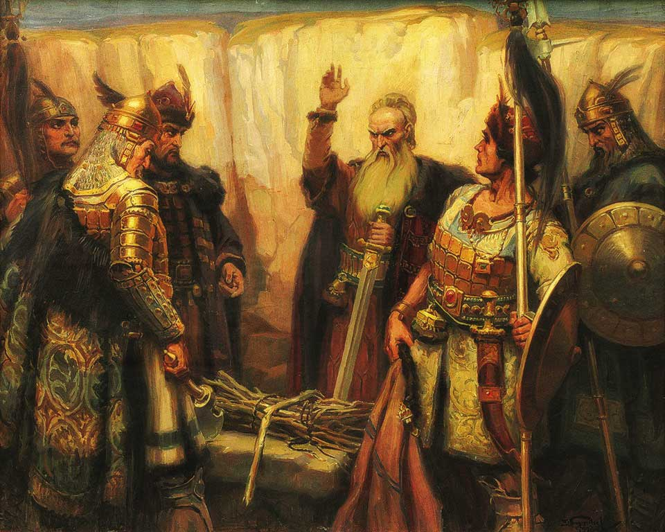 Khan Kubrat and his sons