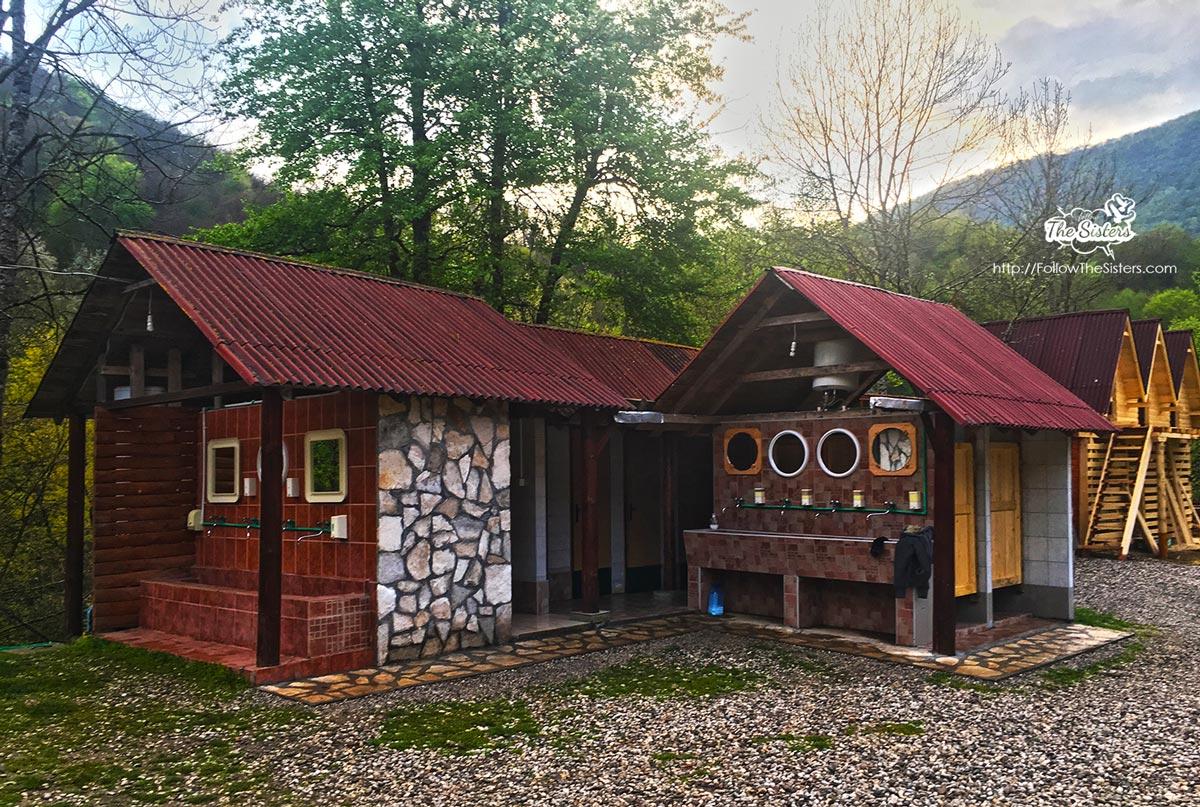Bathrooms at Rafting Center Drina-Tara