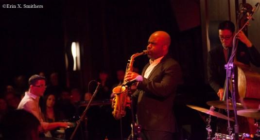 Jaleel Shaw on saxophone