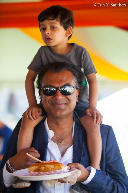 Rudresh Mahanthappa and his son.