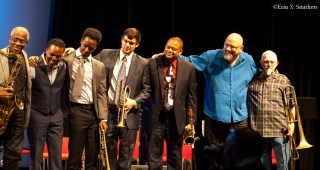 Right to left- Rick Stepton, Jeff Golindo, Bobby Tynes, Billy Buss, Jason Palmer, Yoron Israel, and Bill Thompson.