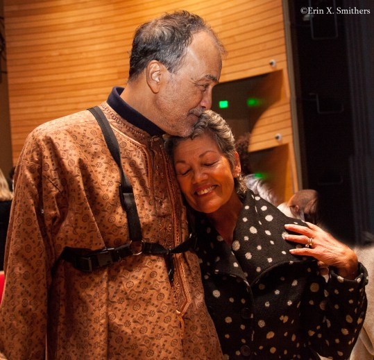 Leonard Brown with the Carolyn Ingles after the concert.
