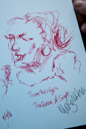 Drawing from the show by Margo Volterra.