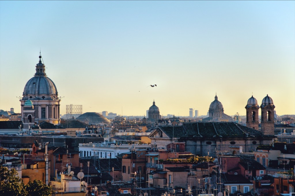 zwiedzanie rzymu - przewodnik po rzymie - fontanny rzymu - widok na miasto