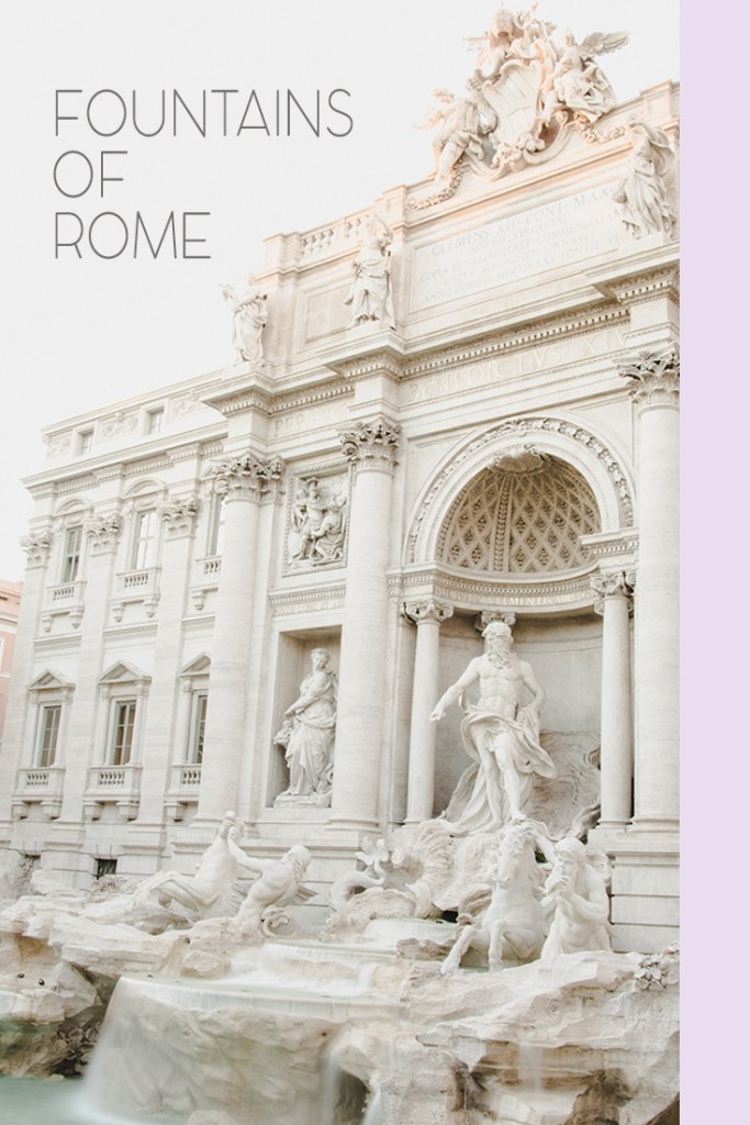 Visit the Eternal City while admiring fountains of Rome at the same time. The alternative guide to Rome and Roman fountains.