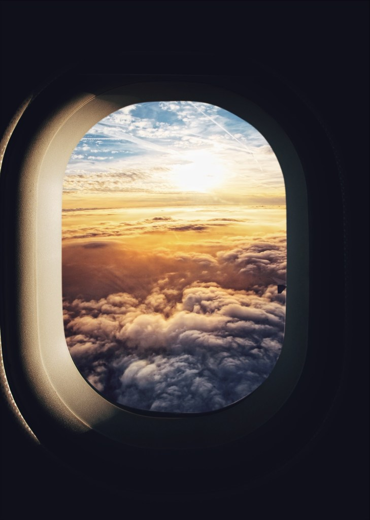 stress free flights tips - view from the window of an airplane