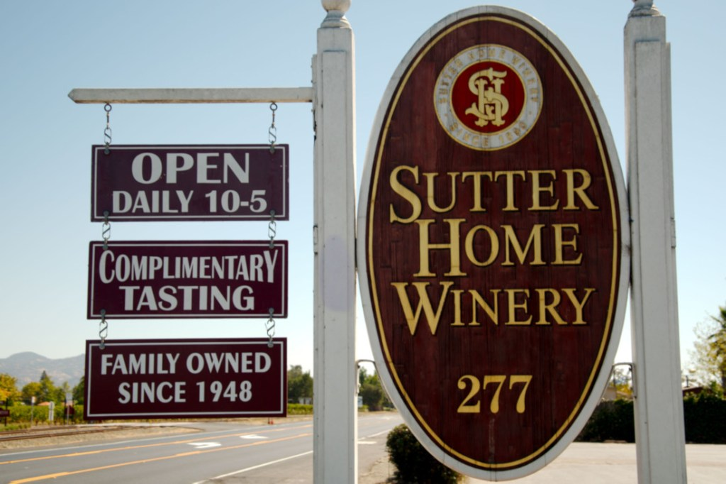wine tasting in Napa Valley - Sutter Home Winery