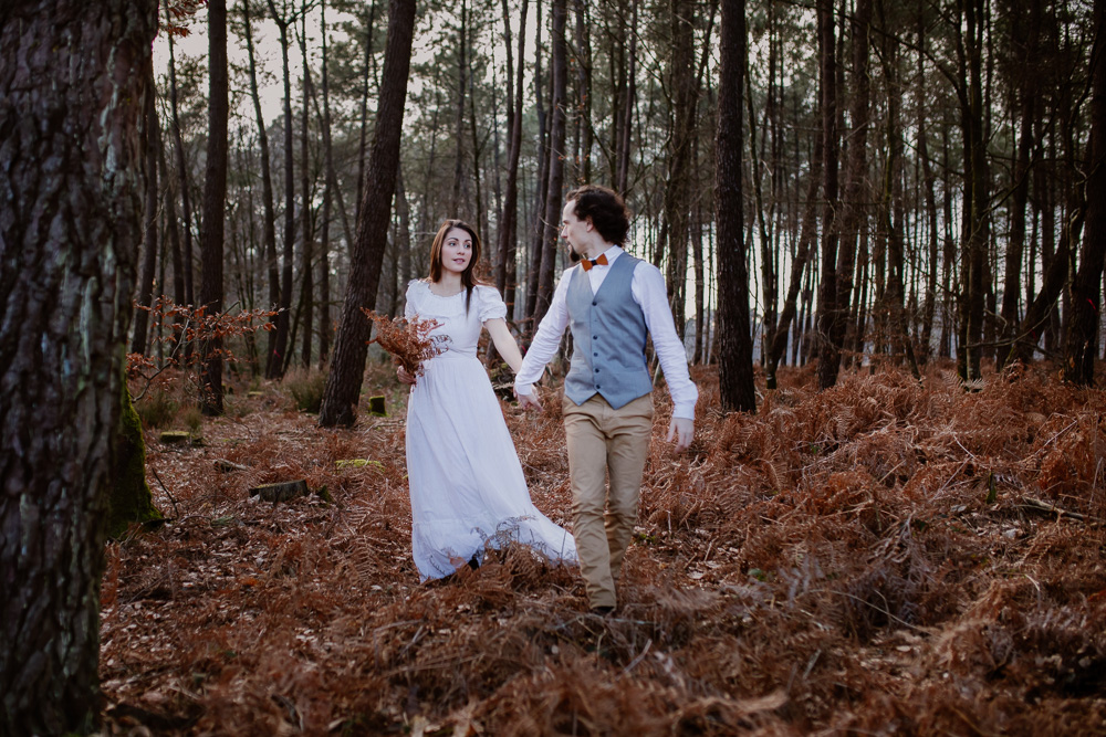 photographe vidéaste mariage forêt follow the white deer