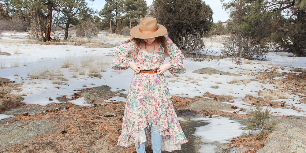 Spell and the Gypsy floral pink dress