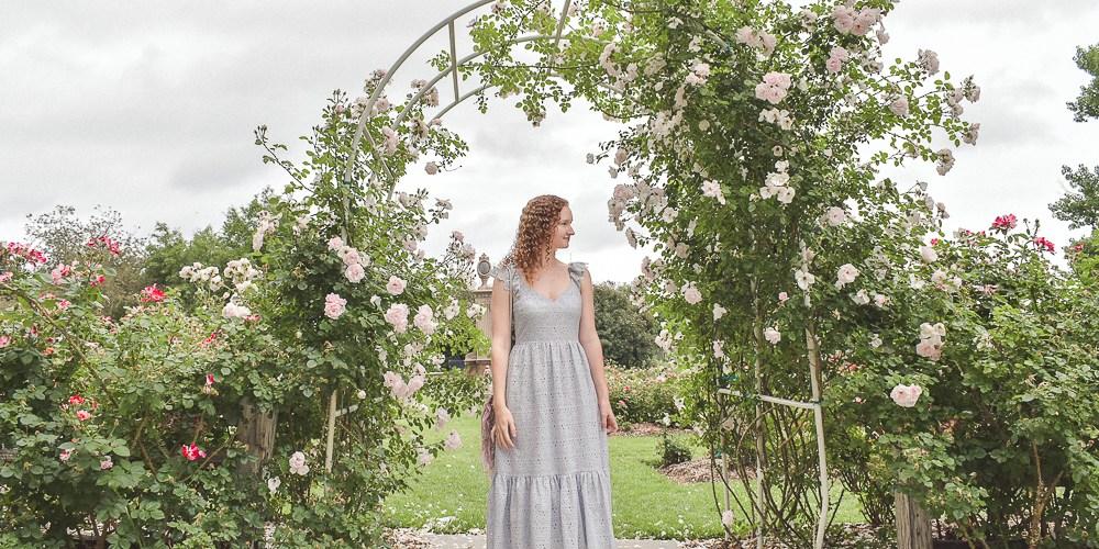 Romantic rose garden