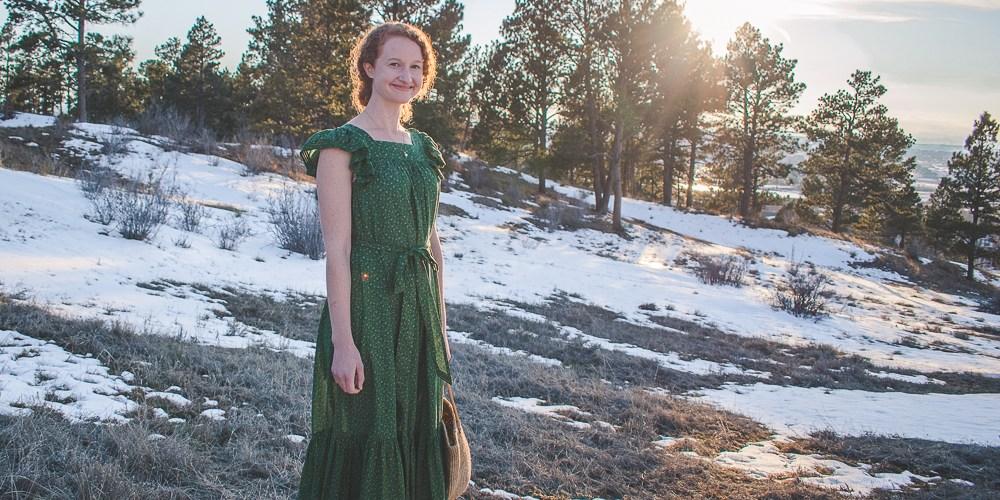 Doen green dress