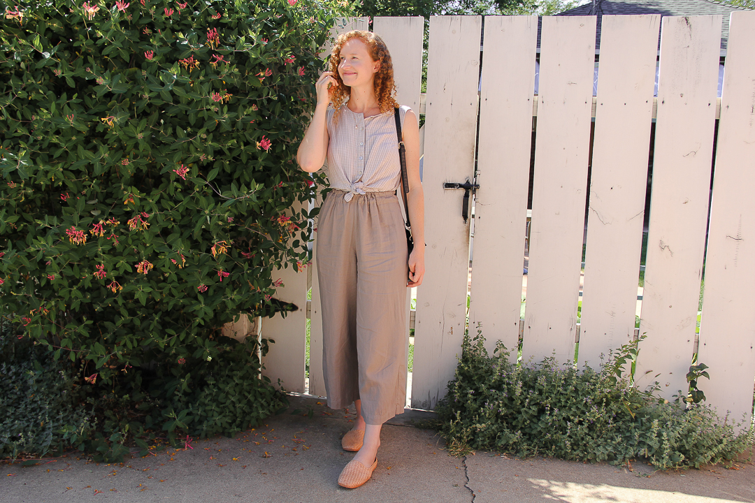 comfortable linen outfit