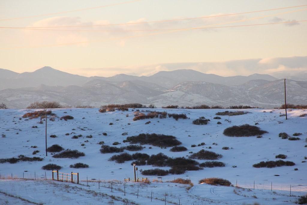 Daniels park- winter sunset in Colorado