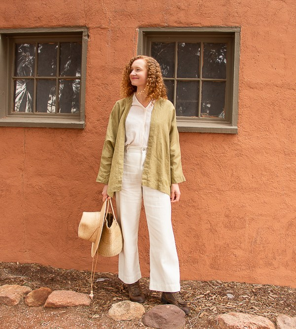 Linen Fox Lemongrass Linen Jacket