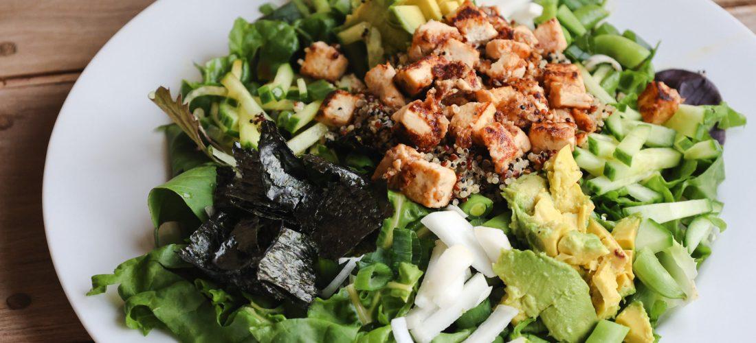 Vegan Sushi Salad Recipe With Rainbow Chard