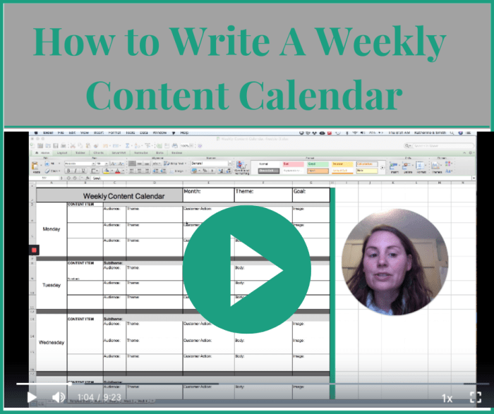 How to write a weekly content calendar