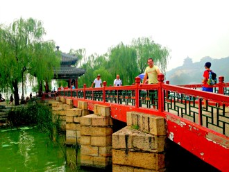 Brücke in Peking, China