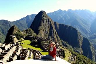 Ariane beim Machu Picchu in Peru